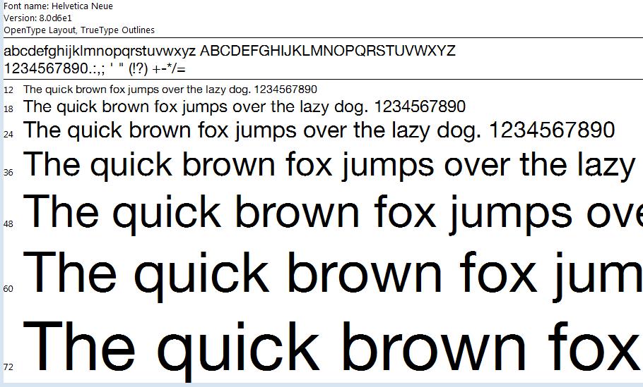 Font chữ thiết kế website Helvetica cho website