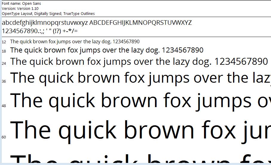 Font chữ thiết kế website Open Sans cho website