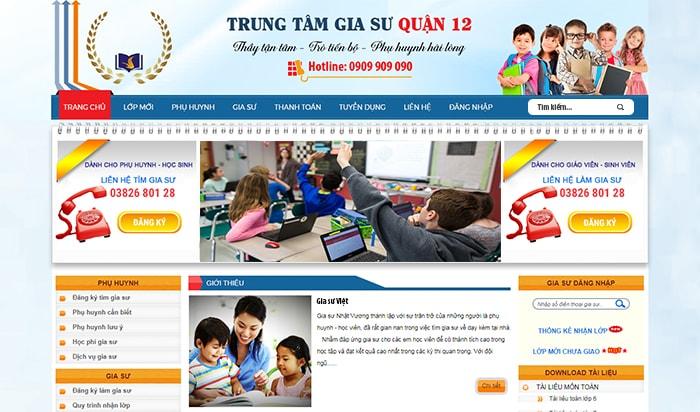Website trung tâm gia sư