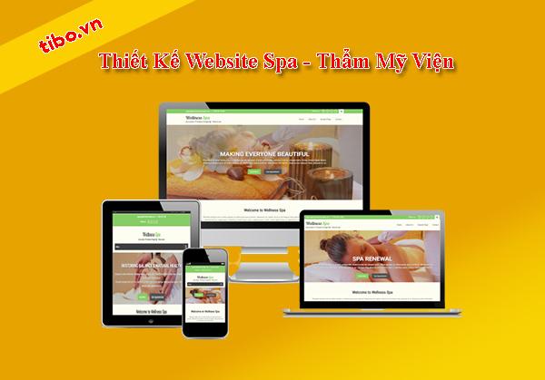 Thiết kế website spa làm đẹp chuyên nghiệp