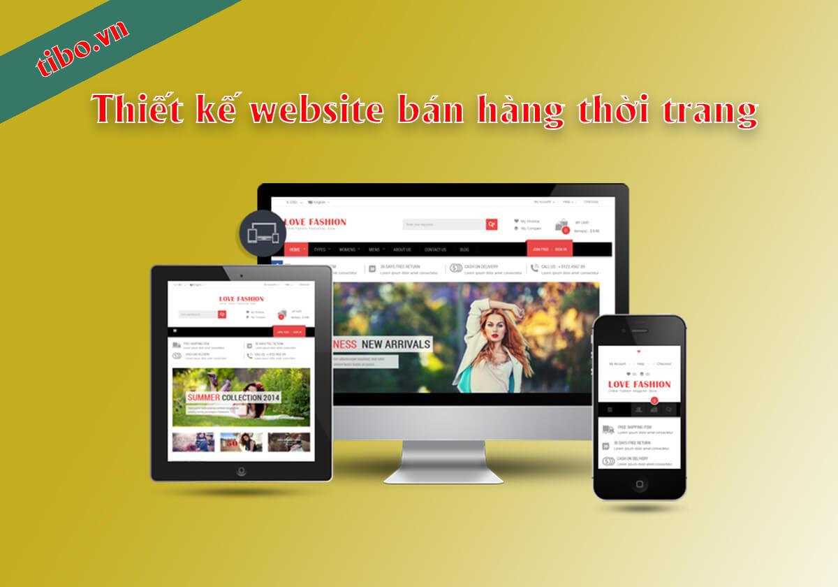 Thiết kế website bán hàng thời trang