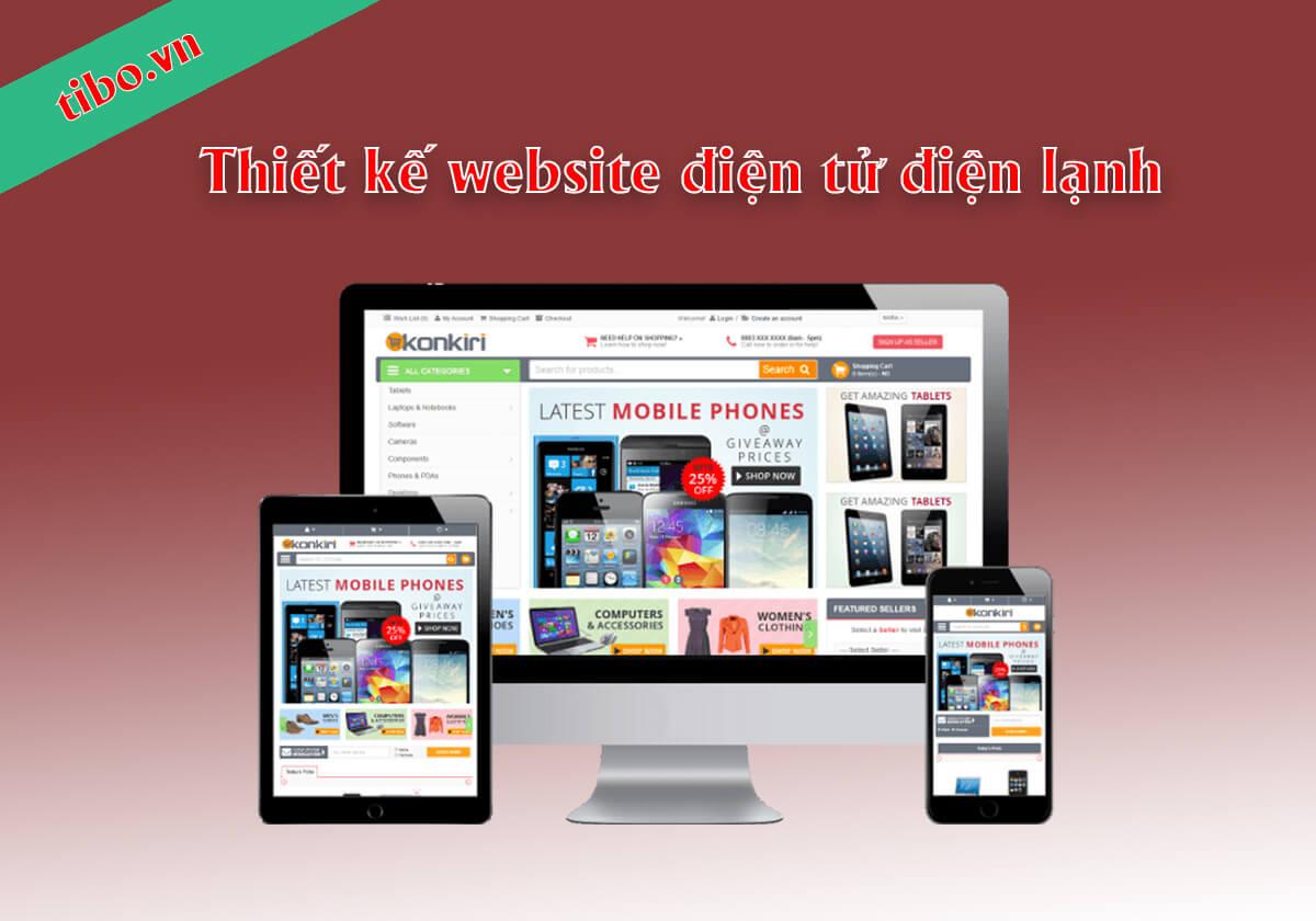 Thiết kế website điện tử điện lạnh