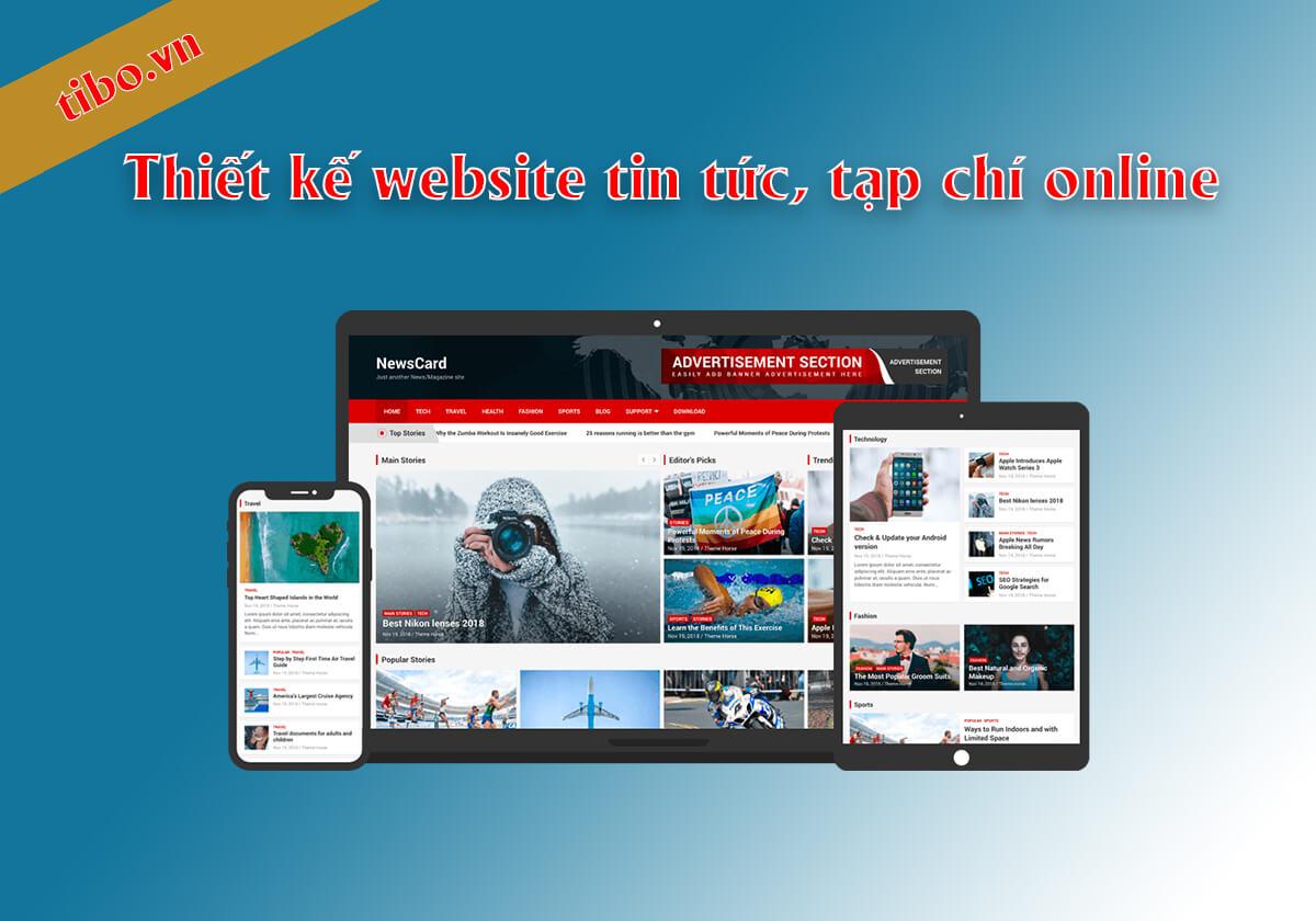 Thiết kế website tin tức và tạp chí online
