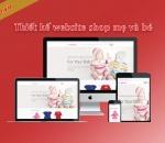 Thiết kế website shop mẹ và bé