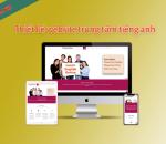 Thiết kế website trung tâm tiếng Anh
