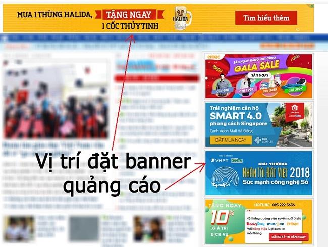 Cách lựa chọn vị trí và website đặt banner