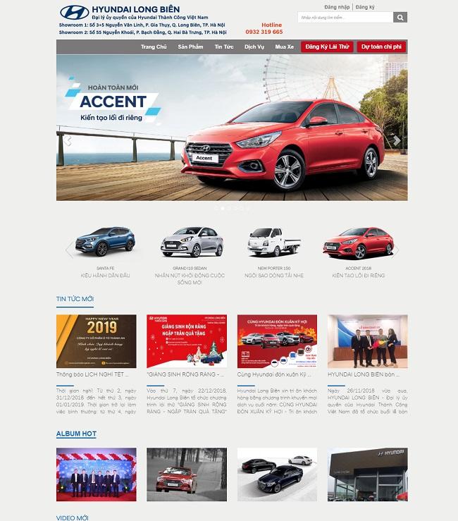 Thiết kế website đại lý ô tô