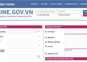 Hướng dẫn thông báo website với Bộ Công Thương
