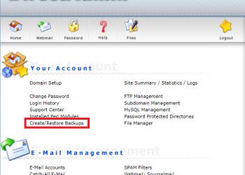 Hướng dẫn backup và restore website sử dụng DirectAdmin