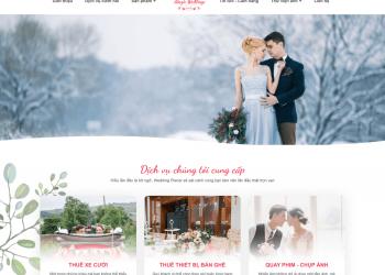 Thiết kế website studio, ảnh viện áo cưới